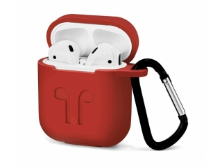 Silikon Hülle für Apple Airpods in rot - Airpod Travel Sport Case