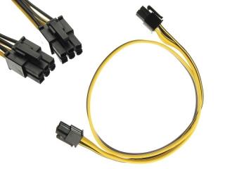 Grafikkarten Strom Kabel 6pin auf 6pin male/male 50cm für Netzteil