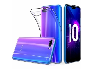 Gummi Hülle zu Honor 10 flexibel dünn transparent thin clear