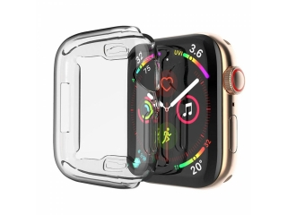 Apple Watch 44mm Ultra Thin TPU Cover Gummi Schutzhülle transparent