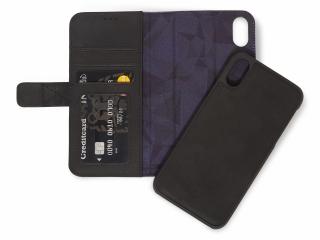 Decoded Leder iPhone Xs Max Hülle Backcover & Kreditkartenfach schwarz