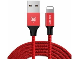 Baseus Nylon Lightning USB PC Ladekabel Datenkabel 1.2 Meter - rot