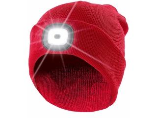 Mütze mit LED Licht - rot