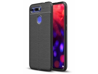 Honor View 20 Leder Design Gummi Hülle TPU Case Cover flexibel