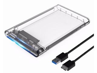 "Orico USB 3.0 SSD / HD Gehäuse 2.5"" Festplatte mit Kabel - transparent"