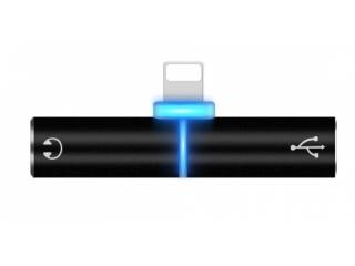 Adapter für iPhone Lightning Kopfhörer & Akku Laden gleichzeitig