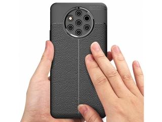 Nokia 9 PureView Leder Design Gummi Hülle TPU Case Cover flexibel