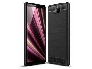 Sony Xperia 10 Plus TPU Carbon Flex Gummi Hülle Thin Softcase schwarz