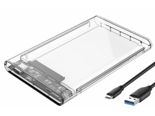 "Orico USB-C 3.1 SSD HD Gehäuse 2.5"" Festplatte mit Kabel - transparent"
