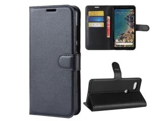 Google Pixel 2 XL Ledertasche Portemonnaie Karten Etui Hülle schwarz
