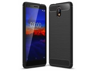 Nokia 3.1 Carbon Gummi Hülle TPU Case Cover Case flexibel schwarz