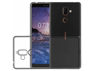 Nokia 7 Plus Gummi TPU Hülle flexibel dünn transparent thin clear case