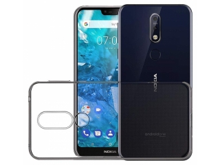 Nokia 7.1 Gummi TPU Hülle flexibel dünn transparent thin clear case