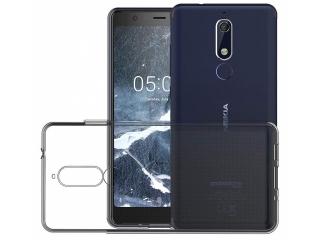 Nokia 5.1 Gummi TPU Hülle flexibel dünn transparent thin clear case