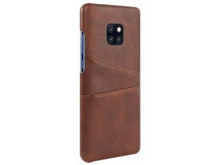 Huawei Mate 20 Pro Leder Case Karten Etui Schutzhülle - braun
