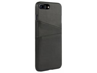 iPhone 7 / 8 Plus Leder Case Hülle für Bank Kreditkarten Etui schwarz