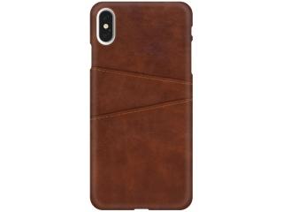 iPhone Xs Max Leder Case Hülle für Bank und Kreditkarten Etui braun