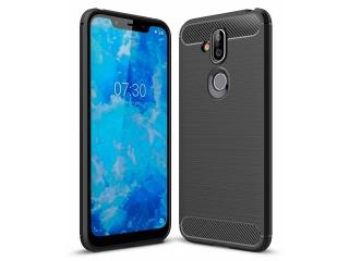 Nokia 8.1 TPU Carbon Flex Gummi Hülle Thin Softcase - schwarz