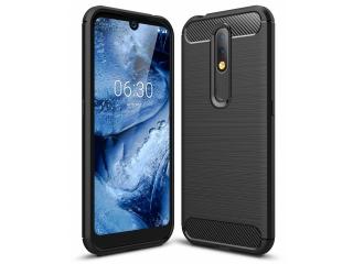 Nokia 4.2 TPU Carbon Flex Gummi Hülle Thin Softcase schwarz