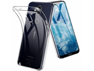 Nokia 8.1 Gummi Hülle TPU flexibel dünn transparent thin clear case
