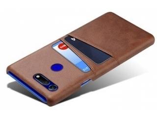 Honor View 20 Leder Case Hülle für Bank & Kreditkarten braun