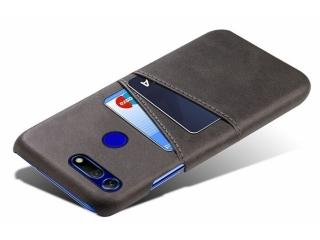 Honor View 20 Leder Case Hülle für Bank & Kreditkarten schwarz