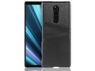 Sony Xperia 1 Leder Case Hülle für Bank & Kreditkarten schwarz