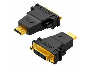 UGREEN DVI / HDMI Adapter - HDMI Stecker - DVI Buchse 24+1 pol schwarz