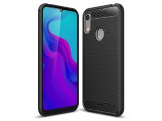 Huawei Y6 2019 Carbon Gummi Hülle TPU Case Cover flexibel schwarz
