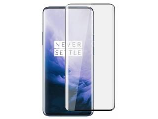 OnePlus 7 Pro 100% Vollbild Panzerglas Schutzfolie 0.23mm 2.5D schwarz
