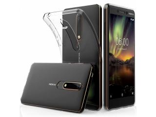 Nokia 6.1 Gummi Hülle Thin Clear TPU Case transparent dünn