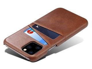 iPhone 11 Pro Leder Case Hülle für Bank und Kreditkarten Etui braun