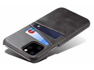 iPhone 11 Pro Leder Case Hülle für Bank und Kreditkarten Etui schwarz