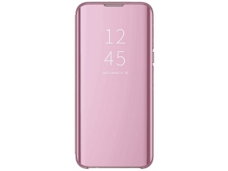 iPhone 11 Pro Max Flip Cover Clear View Stand Case transparent rosa