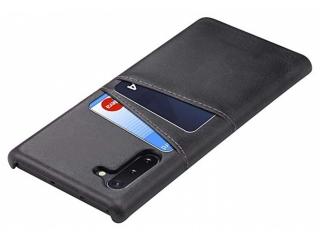 Samsung Galaxy Note 10 Leder Case Hülle für Bank Kreditkarten schwarz
