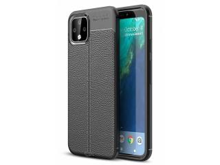 Google Pixel 4 Leder Design Gummi Hülle TPU Case Cover schwarz
