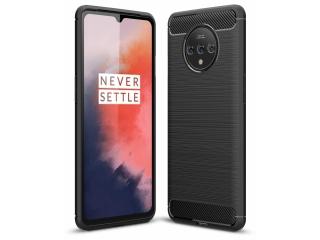 OnePlus 7T Carbon Gummi Hülle TPU Thin Case Cover flexibel schwarz
