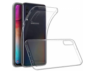 Samsung Galaxy A70s Gummi TPU Hülle flexibel transparent thin clear