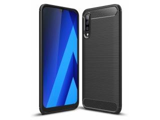 Samsung Galaxy A30s Carbon Gummi Hülle TPU Case Cover flexibel schwarz