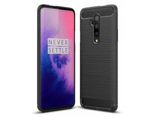 OnePlus 7T Pro Carbon Gummi Hülle TPU Case Cover flexibel schwarz
