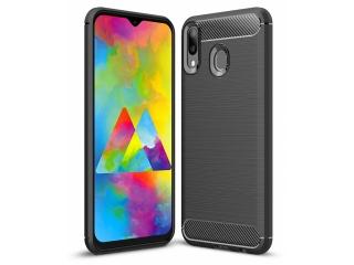 Samsung Galaxy M20 Carbon Gummi Hülle TPU Case Cover flexibel schwarz