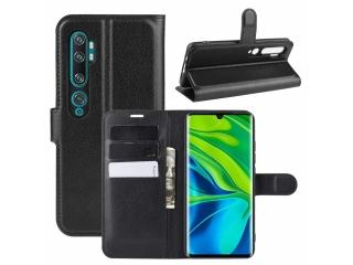 Xiaomi Mi Note 10 Leder Hülle Portemonnaie Karten Ledertasche schwarz