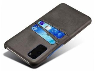 Samsung Galaxy S20 Leder Case Hülle mit Bank Kreditkarten schwarz