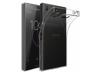 Sony Xperia XZ1 Compact Gummi Hülle dünn transparent thin clear