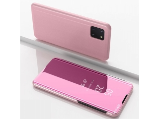 Samsung Galaxy Note 10 Lite Flip Cover Clear View Case transp. rosa