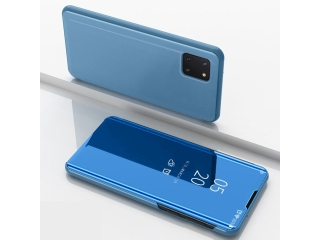Samsung Galaxy Note 10 Lite Flip Cover Clear View Case transp. blau