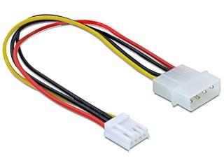 Molex 4-Pin auf Floppy 4-Pin Stromkabel 20 cm Adapter für PC Netzteil