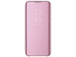 Xiaomi Mi 9 Flip Cover Clear View Flip Case transparent rosa
