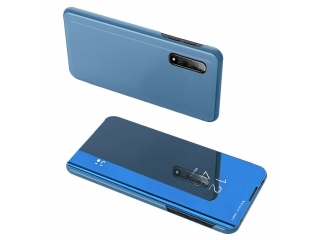 Xiaomi Mi 10 Pro 5G Flip Cover Clear View Flip Case transparent blau