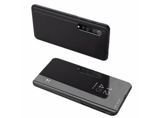 Xiaomi Mi 10 Pro 5G Flip Cover Clear View Flipcase transparent schwarz